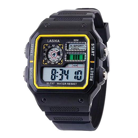 Cinnamou - Reloj de Pulsera para Hombre y Mujer, multifunción, para Deporte y Tiempo Libre D: Amazon.es: Relojes