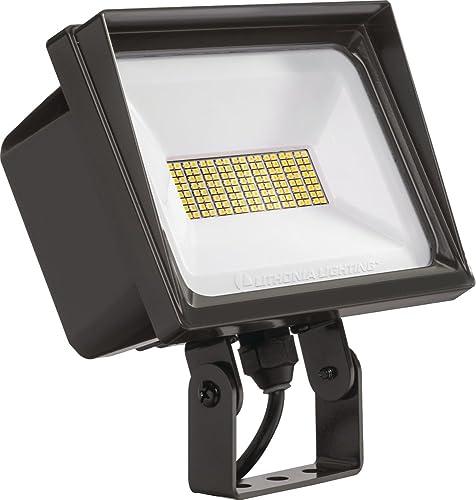 Lithonia Lighting QTE LED P3 50K 120 YK DDB M6 Flood Light, 5000k, 66 watts, 6750 lumens, Dark Bronze