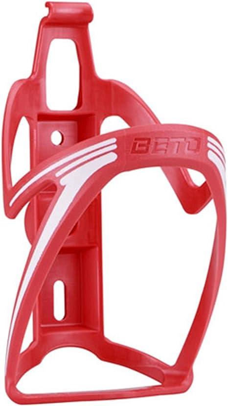 Portabidon BETO Porta Bidon Color ROJO Fibra para Bicicleta MTB y ...