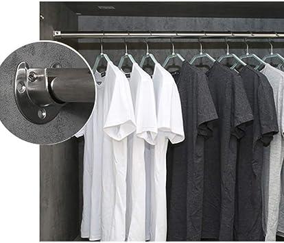 KKmoon 2 pezzi asta armadio supporto asta di sostegno a forma di U presa flangia set Heavy Duty Closet Pole rod End supporta per armadio asta per tenda doccia