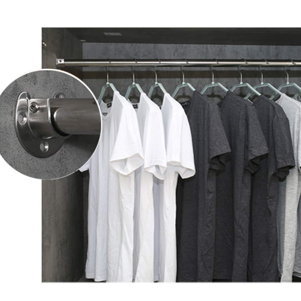Kleiderstangenhalter U-Form Rod Socket Flange Set Edelstahl Rod Support U-f/örmigen Closet Rod Holder KKmoon 2 St/ück Rundrohr-Halterung f/ür Schrankrohr-Stange