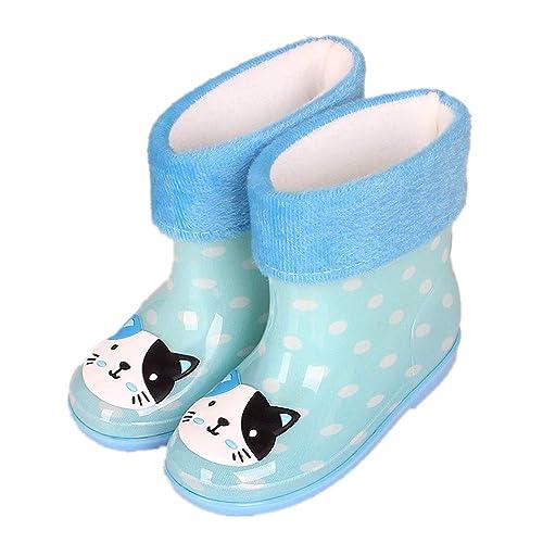 Amazon.com: Botas de lluvia para niños, impermeables, de ...