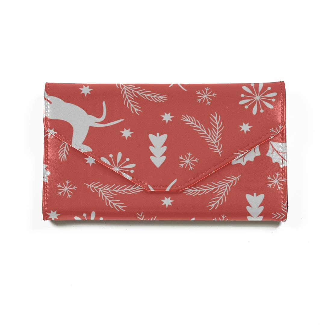 Amazon.com | Christmas Reindeer Travel Passport Wallet Tri ...