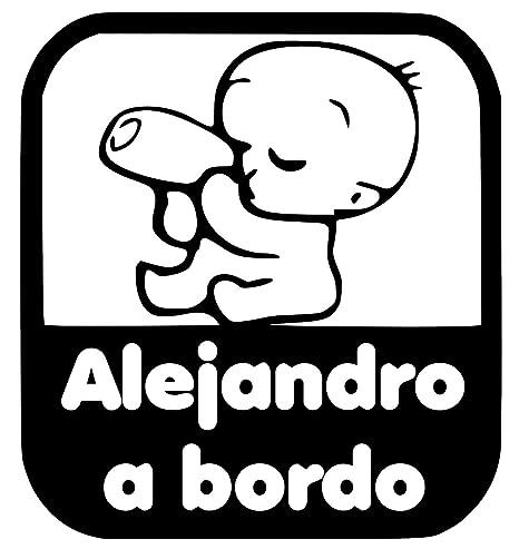 Pegatina Personalizada Vinilo Bebe a bordo + Nombre para ...