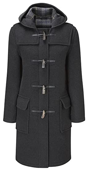 Womens Long Duffle Coat Charcoal, Sports & Outdoors - Amazon Canada
