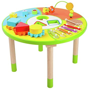 Chad Valley Wooden Activity Table.: Amazon.co.uk: Toys & Games
