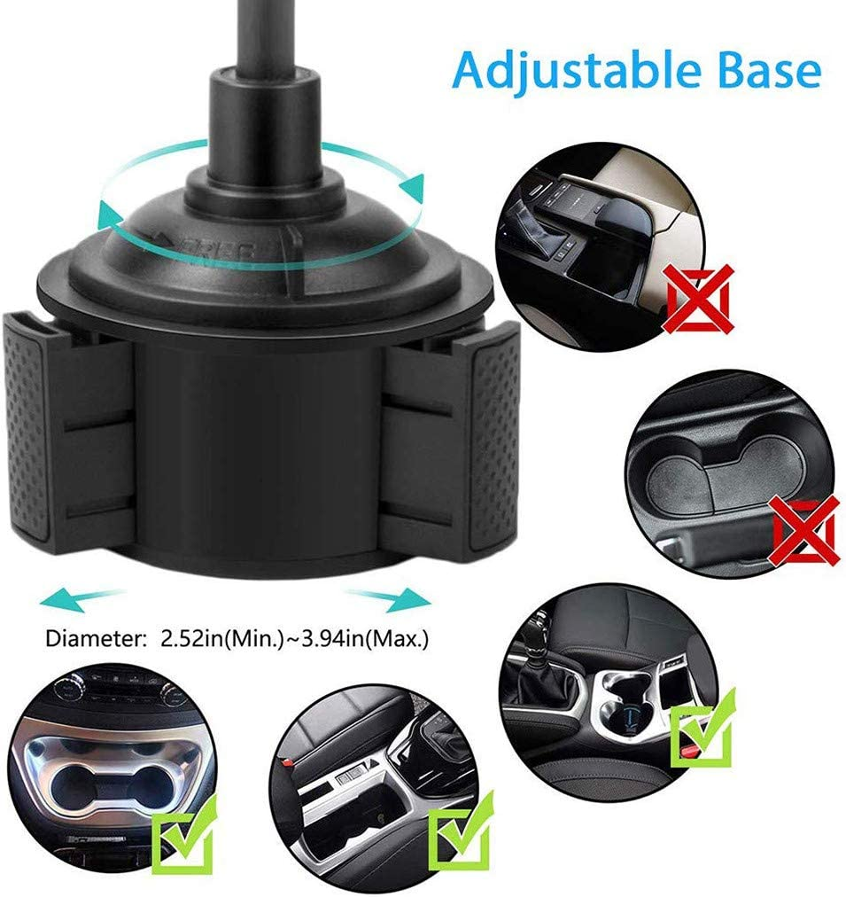 Compatible with iPhone Long Hose Car Seat Cellphone Bracket Cradle Dacorda Water Cup Mobile Phone Support Holder Universal Car Mount Adjustable Holder Huawei Smartphone Samsung Galaxy