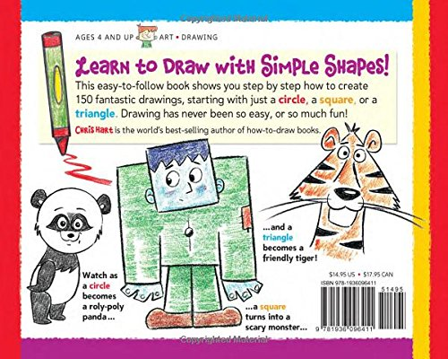 Drawing Shape by Shape: Create Cartoon Characters with Circles, Squares & Triangles (Drawing Shape by Shape series)