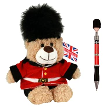 Amazon.com: Oso de peluche Londres Guardsman Union Jack + ...