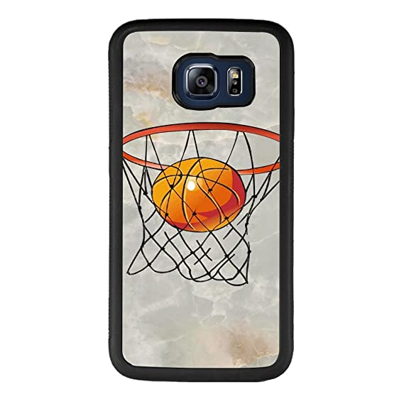 brand new 51c7a cefa0 Basketball Samsung Galaxy S6 edge plus Case,Shockproof Slim Anti-Scratch  Protective Kit with Heavy Duty Dual layer Rugged Case Non-slip Grip Cover  for ...
