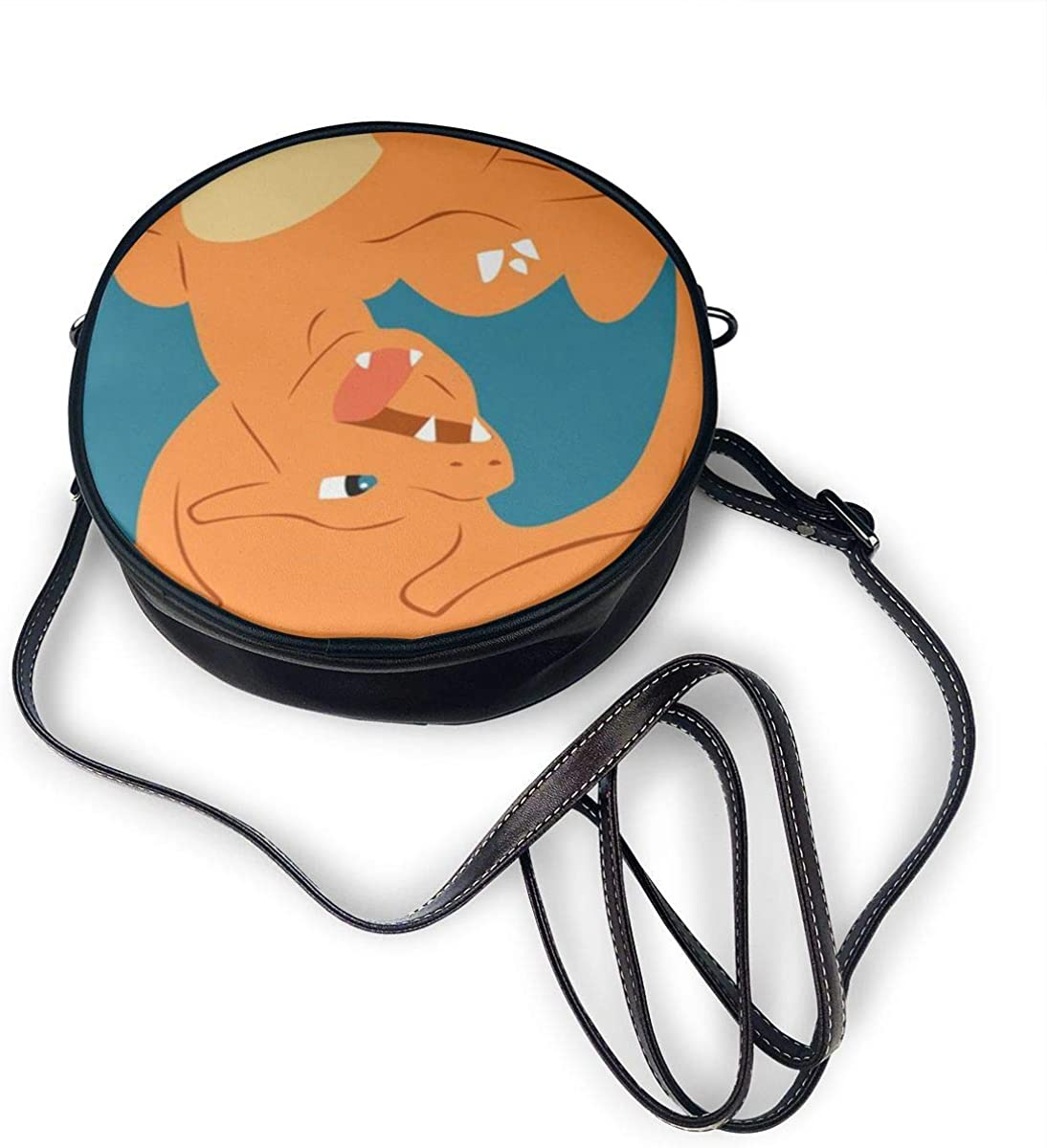 Charizard Zipper Shoulder Bag For Casual Travel Trendy Round ...