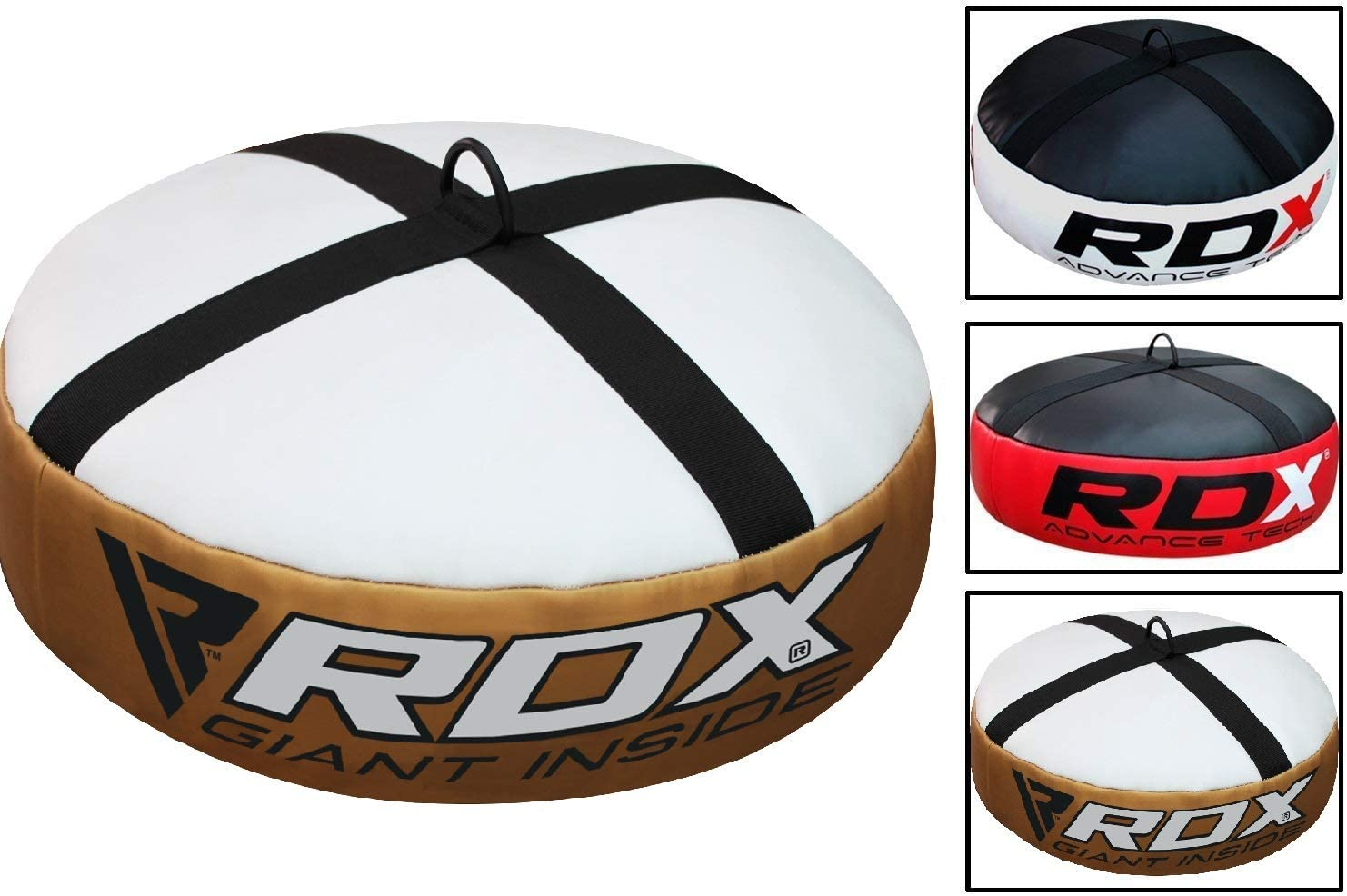 RDX Double End Anchor Bag for Boxing Training, Heavy Duty Floor Punching Bag, Great for Punching, MMA, Kickboxing, Muay Thai, Karate, BJJ and Taekwondo