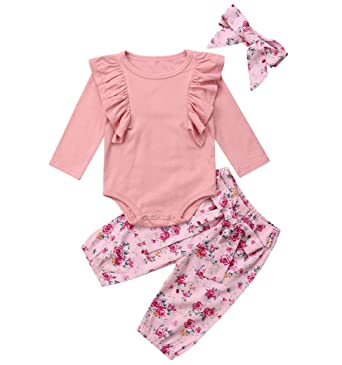 93722b781c46 Amazon.com  Emmababy Little Sister Baby Girls Summer Clothes Short ...