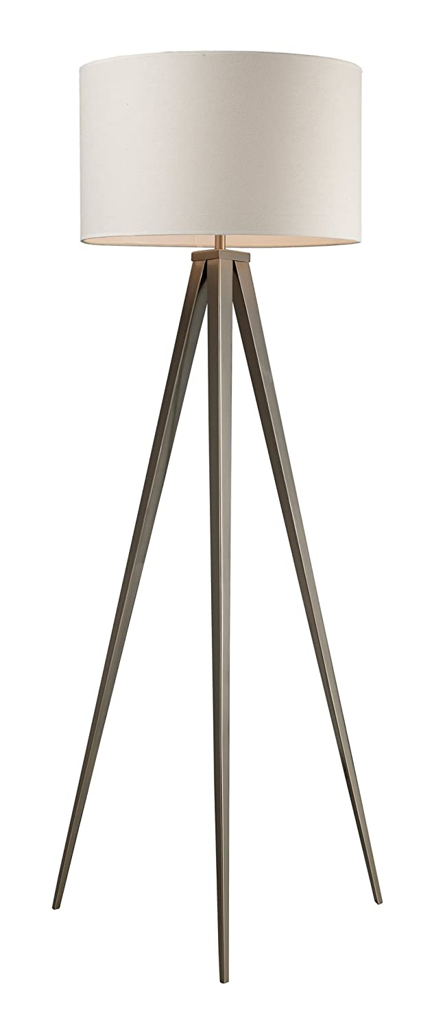Dimond d2121 20 inch width by 61 inch height salford floor lamp in dimond d2121 20 inch width by 61 inch height salford floor lamp in satin nickel with off white linen shade and pure white fabric liner tripod floor lamp aloadofball Choice Image