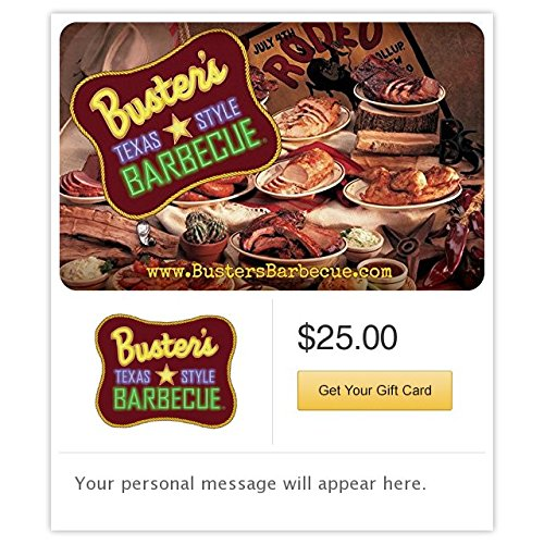 Buster's Texas Style Barbecue Gift Cards – E-mail Delivery