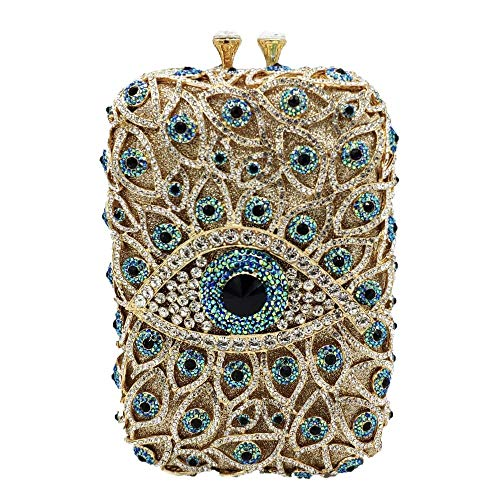 The Evil Eye Crystal Clutch Bags Women Evening Minaudiere Purses and Handbags