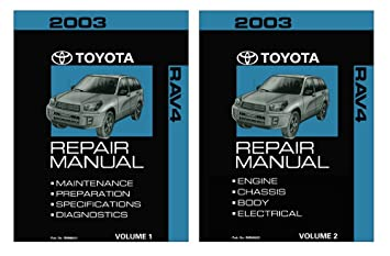 amazon com 2003 toyota rav4 shop service repair manual book engine rh amazon com 2003 toyota rav4 service manual pdf free download 2003 toyota rav4 service manual pdf