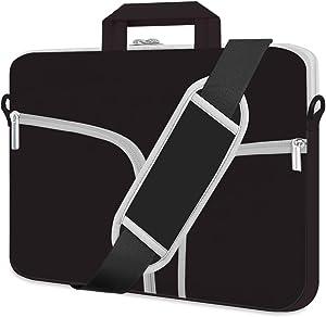 "HESTECH Laptop Case 17.3 inch,Shoulder Handle Computer Messenger Briefcase Bag Cute Sleeve for Women 17"" dell Latitude/Inspiron Samsung Chromebook Lenovo Surface hp Pavilion/Envy x360,Black"