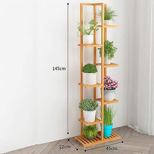 Bamboo multiple shelves storage choice in Kitchen flower shelf multiple use