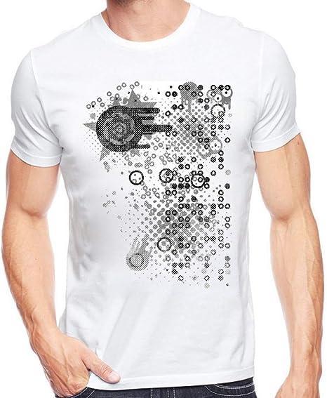 MKDLJY Camisetas Retro Semitono Círculos Y Puntos Abstractos Camiseta Impresa Verano Camiseta Geométrica De Los ...
