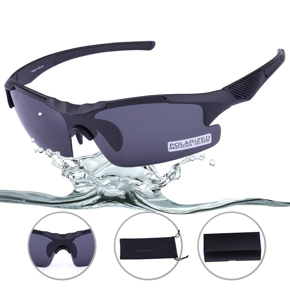 Polarized Sport Sunglasses - Carfia UV400 Cycling Glasses for Men Women Lightweight by Carfia