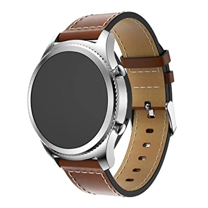 Correas para Samsung Gear S3 Amlaiworld Reemplazo de Cuero Reloj Pulsera Correa Banda para Samsung Gear