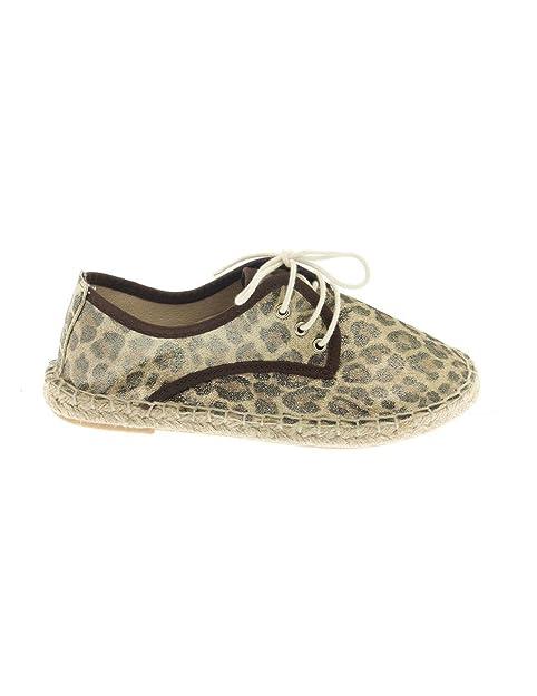 Leopardo Gulliver y complementos Cordon Zapatos Amazon Alpargata es WEPv6WZ