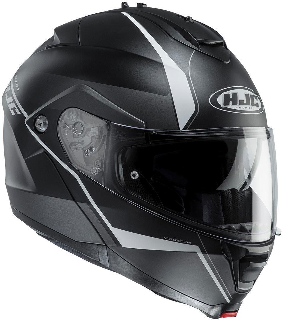Casco de moto HJC IS Max II Mine MC4HSF, negro/amarillo, tamaño L: Amazon.es: Coche y moto
