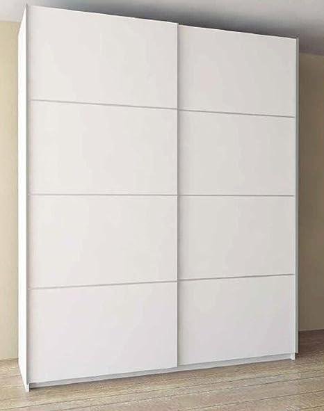 Armario con 2 puertas correderas, blanco – Dim: 150 x 60 x 220 cm: Amazon.es: Hogar