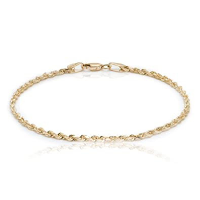 glitter hsn jewelry bracelets d shop michael bracelet rope anthony chain anklet gold
