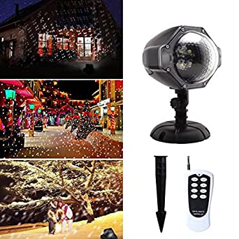 Snowfall LED Lights, DELICACY Remote Control Snowflake Projector Light, Waterproof Snowflakes Night Light for Party, Holiday, Halloween and Christmas