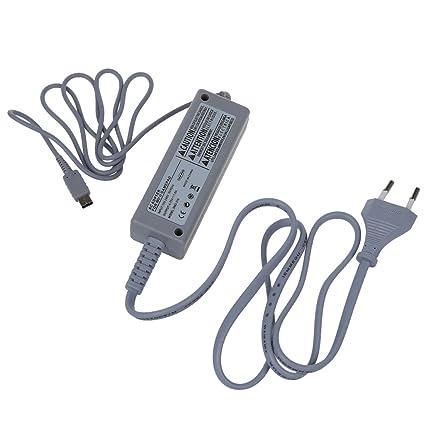 SODIAL(R) adaptador de CA 100V-240V cargador de alimentacion para los plug Wii U Gamepad controlador de la UE