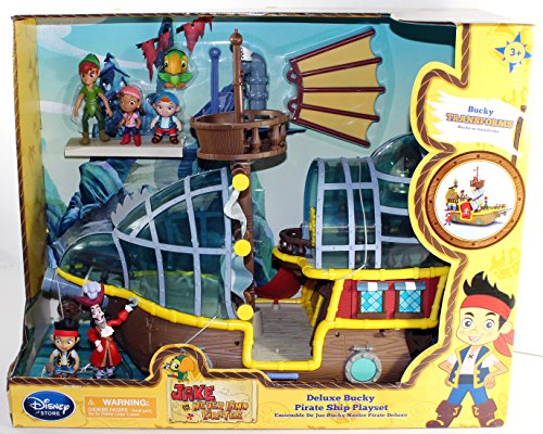 Disney Jake and the Never Land Pirates Playset Deluxe Bucky Pirate Ship [2014] -