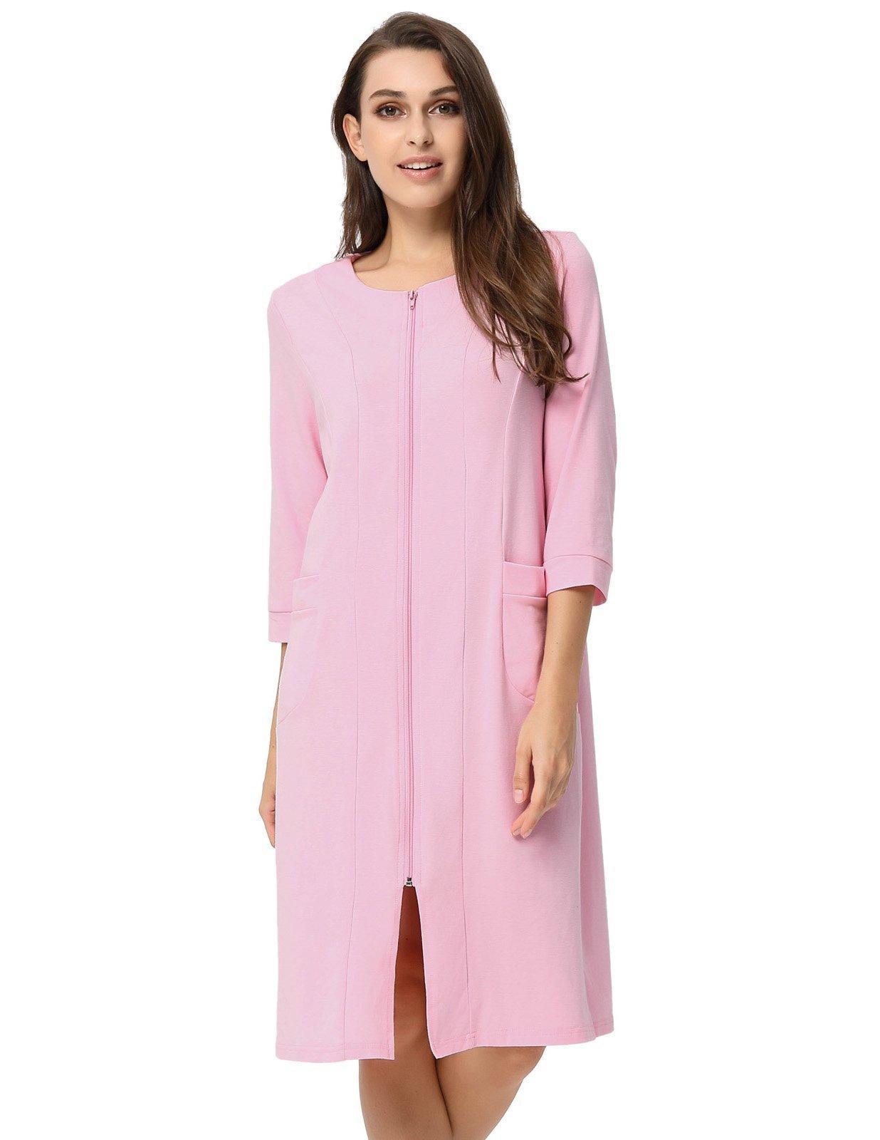 Zexxxy Women's Plus Size Robe Pyjama for Summer House Wear Pink 2XL