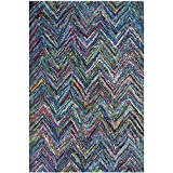 Safavieh Nantucket Collection NAN141C Handmade Blue and Multi Cotton Area Rug, (2-Feet 3-Inch X 4-Feet)