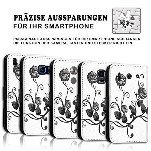 Wallet Book Style Flip Handy Tasche Case Schutz Hülle Schale Motiv Etui für Apple iPhone 5 / 5S - Design Flip MV251