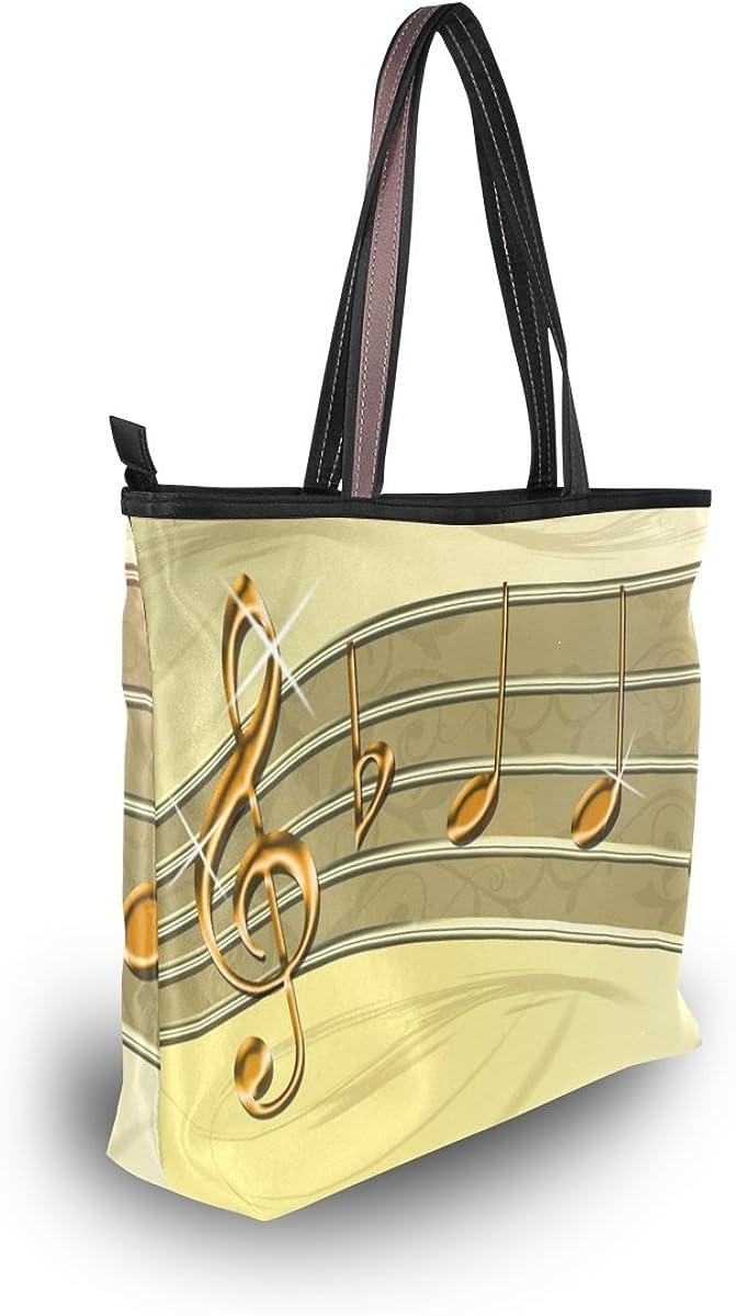 WIHVE Womens Shoulder Bag Satchel Handbags Music Travel Tote Purse