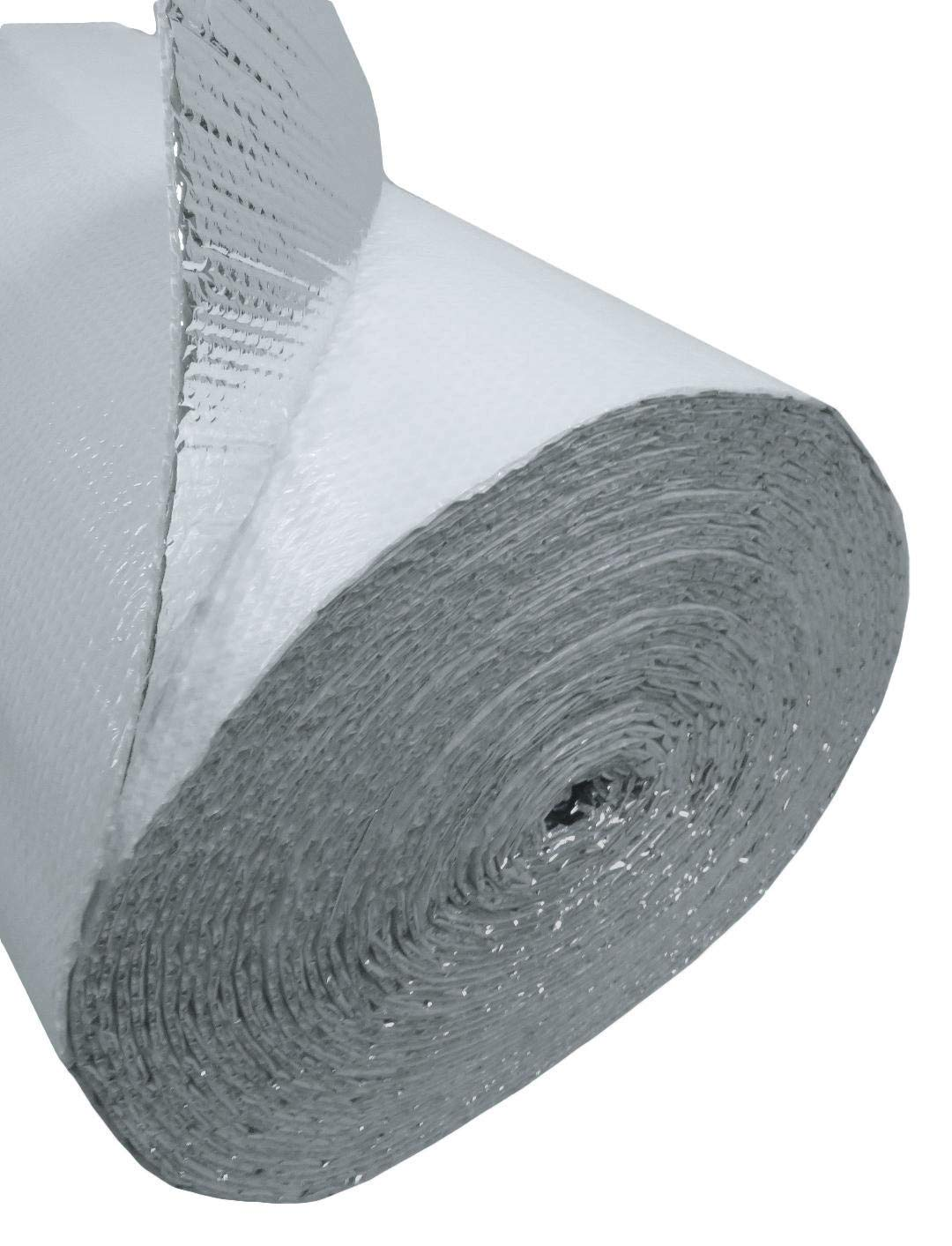 US Energy Products (4ft x 100ft) NASATECH White DOUBLE Bubble Aluminum Reflective Aluminum Insulation Roll Solid Metal Building Vapor Barrier - White Concrete Commercial Residential House Buildings by US Energy Products (Image #2)
