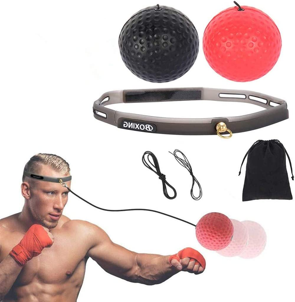 Details about  /Boxing Reflex Ball Fight Ball Boxing Speed Training Ball Fitness Exercise Sports