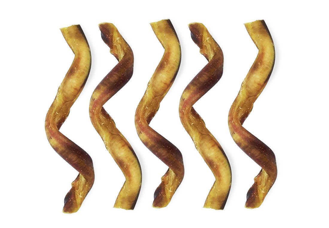 EcoKind Pet Treats USA Sourced Curly Bully Sticks 5 Pack