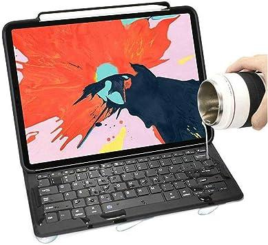 Funda con teclado para iPad Pro 11 2020 con soporte para lápiz, diseño de negocios, con función atril y teclado impermeable [compatible con carga de ...