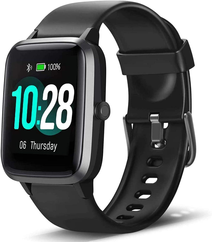 Lintelek Smartwatch de Pantalla táctil,Pulsera Actividad con Monitor de Pasos, Calorías, Sueño y Ritmo Cardíaco, Reloj Inteligente Impermeable 5ATM, Reloj Deportivo Compatible con iOS y Android
