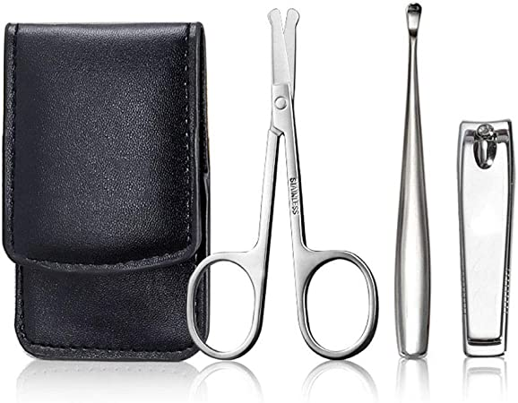 Set de manicura /pedicura en estuche Manicura, pedicura Kit Nail Clipper Set 3 piezas de acero