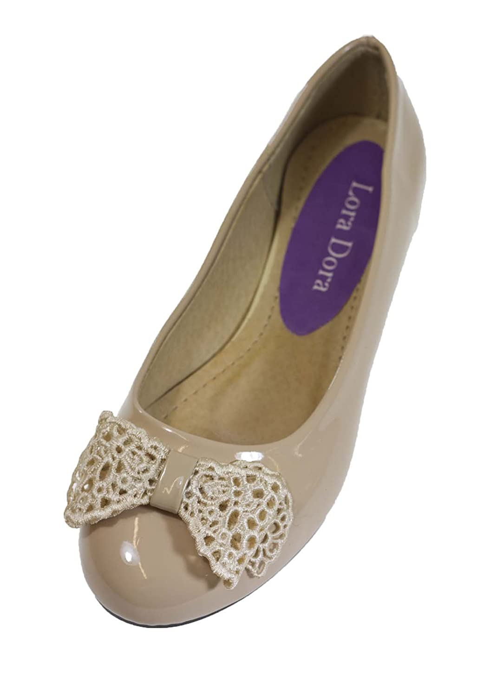 Lora Dora Womens Faux Patent Leather Ballet Pumps Flat Ballerinas Crochet  Bow Shoes Size UK 3-8: Amazon.co.uk: Shoes & Bags