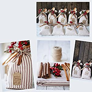 200 Pcs Artificial Small Berries Red Cherry 100 Pcs Fake Green Leaves with 1 Roll Floral Tape for Christmas Tree DIY Gift Decorative 4