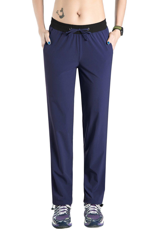 Nonwe Women's Quick Drying Pants with drawstring hem Blue Granite XXL/32 Inseam