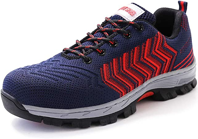 Summer Safety Shoes Men Women Steel Toe Caps Work Shoes Lightweight  Industrial