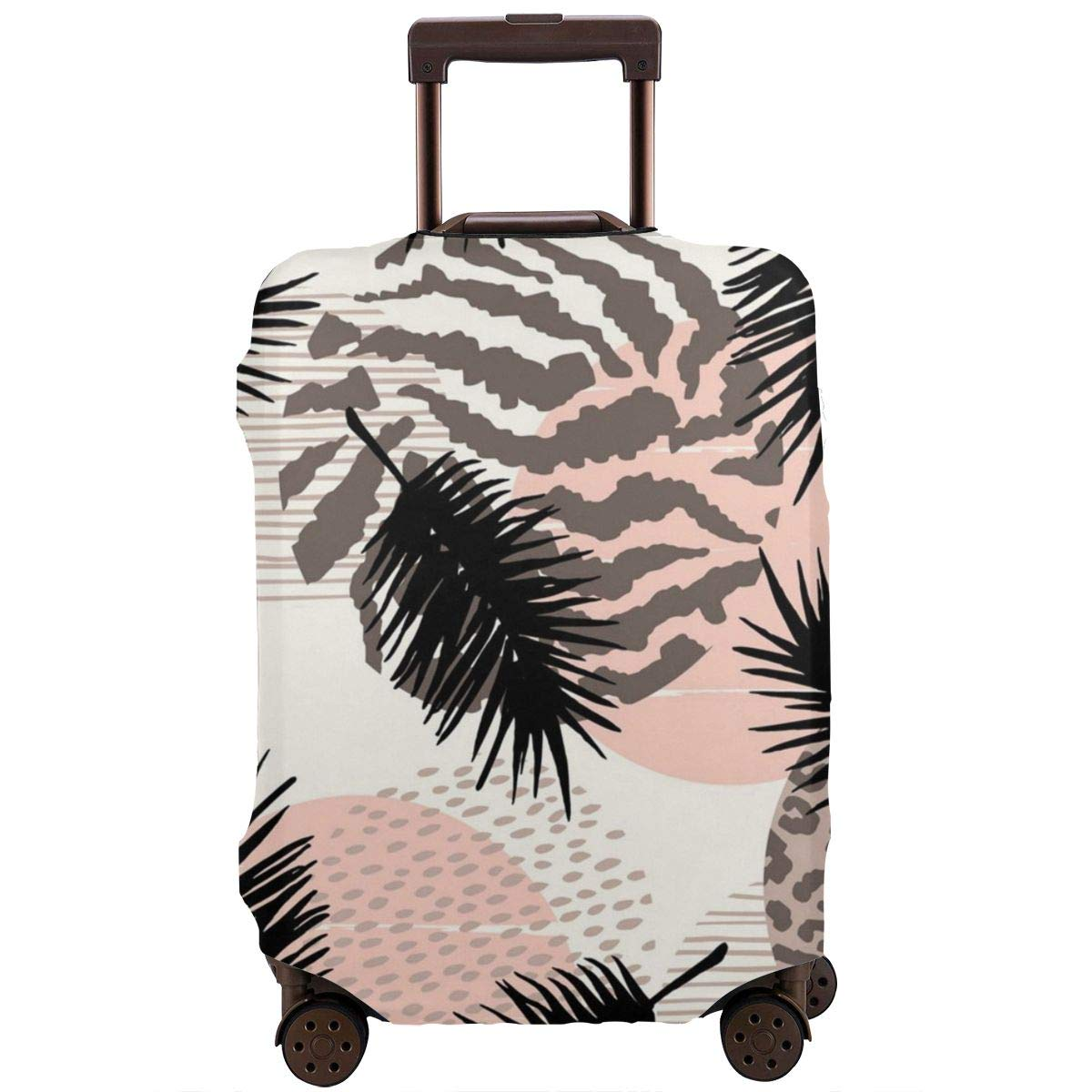 JHNDKJS Plants Seamless Print 3 Travel Luggage Cover Baggage Suitcase Protector Fit for 12-18 Inch Luggage