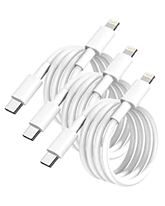 iPhone Fast Charger Cable,3 Pack USB C to Lightning Cable 6FT Apple MFi Certified 20W Fasting Charging iPhone Cable for iPhone 12/11/XS/XR/X 8/iPad/AirPods Pro,Supports Power Delivery & All iOS System