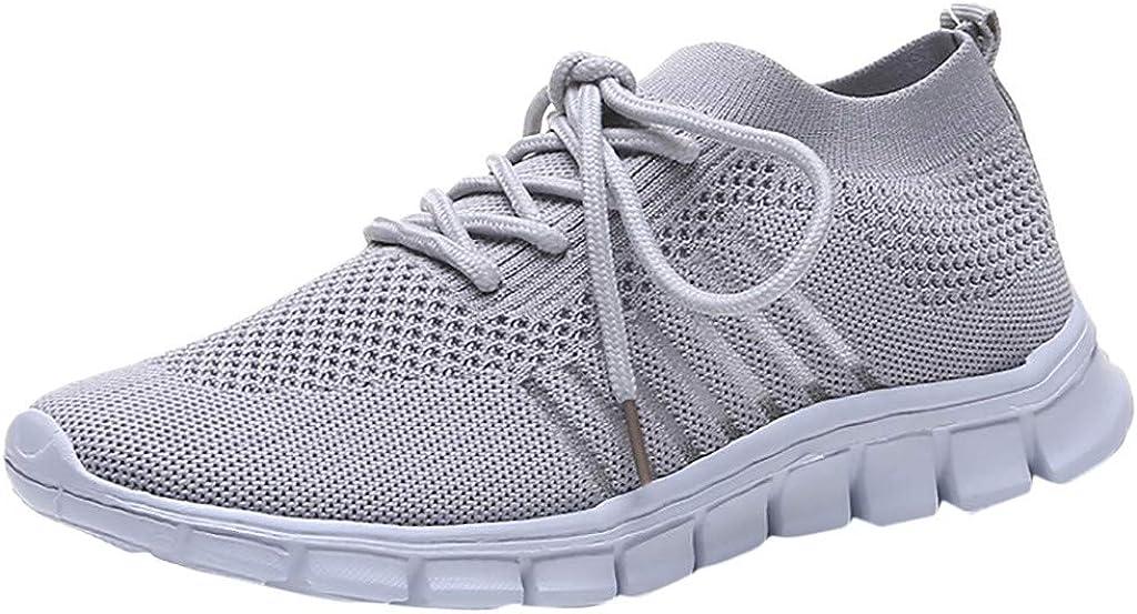 Zapatillas Ligeros Mujer Cómodos Zapatos Trail Running Transpirable Zapatos con Cordones Calzado Deportivo Entrenamiento Trekking Senderismo Antideslizante Liquidación Yvelands